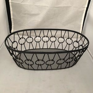 Ornamental wire basket for fruit, eggs... etc